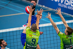 Dennis Borst #18 of Lycurgus in action during the supercup final between Amysoft Lycurgus - Active Living Orion on October 04, 2020 in Van der Knaaphal, Ede