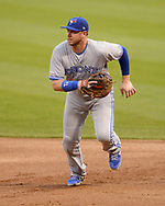 CHICAGO - MAY 16:  Justin Smoak #14 of the Toronto Blue Jays fields against the Chicago White Sox on May 16, 2019 at Guaranteed Rate Field in Chicago, Illinois.  (Photo by Ron Vesely)  Subject:  Justin Smoak