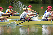 2006 FISA World Cup, Lucerne, SWITZERLAND, 09.07.2006, Women's Eights final, USA W8+ ROM W8+ GBR W8+, Photo  Peter Spurrier/Intersport Images email images@intersport-images.com, Finals Day, Afternoon A Finals. ....[Mandatory Credit Peter Spurrier/Intersport Images... Rowing Course, Lake Rottsee, Lucerne, SWITZERLAND.