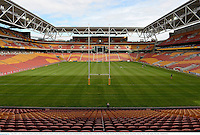 7 June 2013; A view of the Suncorp Stadium during the British & Irish Lions kickers practice ahead of their game against Queensland Reds on Saturday. British & Irish Lions Tour 2013, Kickers Practice, Suncorp Stadium, Brisbane, Queensland, Australia. Picture credit: Stephen McCarthy / SPORTSFILE