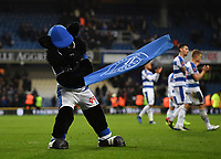Football - 2018 / 2019 FA Cup - Third Round: Queens Park Rangers vs. Leeds United<br /> <br /> The Queens Park Rangers mascot celebrates at the final whistle, at Loftus Road.<br /> <br /> COLORSPORT/ASHLEY WESTERN