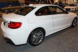 CHARLOTTE, NORTH CAROLINA - NOVEMBER 20, 2014: BMW M235i coupe on display during the 2014 Charlotte International Auto Show at the Charlotte Convention Center.