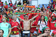 Portugal fans during the Euro 2016 final between Portugal and France at Stade de France, Saint-Denis, Paris, France on 10 July 2016. Photo by Phil Duncan.