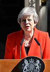 British Prime Minister, Theresa May announces date of her resignation - 24 May 2019
