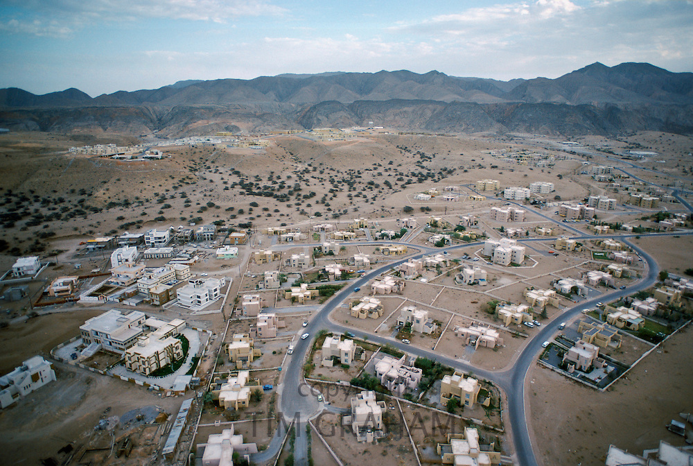 New development of housing and roads in the desert at Muscat in Oman, Middle East in 1979