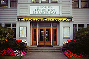 The office of Pacific Lumber Company in Scotia, Humboldt County, California, USA.
