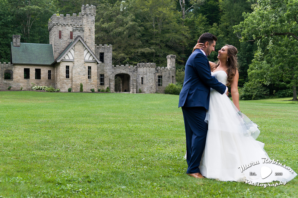 First look wedding photograph by Tallmadge wedding photographer, Akron wedding photographer Mara Robinson Photography