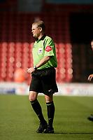 Photo: Jake Eastham.<br /> Southampton v Crewe. Coca Cola Championship.<br /> 27/08/2005.Referee A.R.Hall keeps a close eye on play.