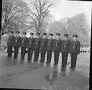 Passing out parade of new Gardaí..14.04.1961 in uniform