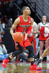 NORMAL, IL - November 13: Josh Jefferson during a college basketball game between the ISU Redbirds  and the Chicago State Cougars on November 13 2018 at Redbird Arena in Normal, IL. (Photo by Alan Look)