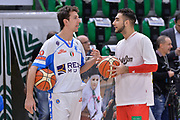DESCRIZIONE : Campionato 2015/16 Serie A Beko Dinamo Banco di Sardegna Sassari - Grissin Bon Reggio Emilia<br /> GIOCATORE : Giacomo Devecchi Pietro Aradori<br /> CATEGORIA : Before Pregame Fair Play<br /> SQUADRA : Dinamo Banco di Sardegna Sassari<br /> EVENTO : LegaBasket Serie A Beko 2015/2016<br /> GARA : Dinamo Banco di Sardegna Sassari - Grissin Bon Reggio Emilia<br /> DATA : 23/12/2015<br /> SPORT : Pallacanestro <br /> AUTORE : Agenzia Ciamillo-Castoria/L.Canu