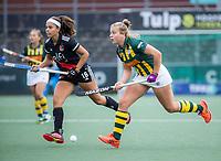 AMSTELVEEN - Noor de Baat (Amsterdam) met tijdens de competitie hoofdklasse hockeywedstrijd dames, Amsterdam-HDM (1-1).  COPYRIGHT KOEN SUYK