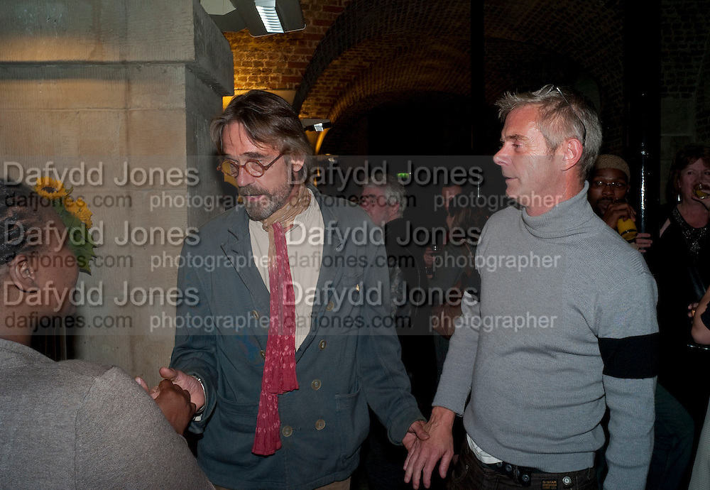 Pauline Malefane; Jeremy Irons; Stephen Daldry;  , The opening night of The Mysteries Ð Yiimimangaliso at the Garrick Theatre. Aftershow party in The Crypt, St Martin-in-the-Fields, Trafalgar Square, London. 15 September 2009.<br /> Pauline Malefane; Jeremy Irons; Stephen Daldry;  , The opening night of The Mysteries ? Yiimimangaliso at the Garrick Theatre. Aftershow party in The Crypt, St Martin-in-the-Fields, Trafalgar Square, London. 15 September 2009.