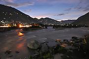 India, Himachal Pradesh, khirganga hot springs, Parvati valley at night