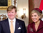 Regeringslunch in de Treveszaal / Government Lunch in Treveszaal<br /> <br /> op de foto / On the photo: Koningin Maxima en Koning Willem Alexander / Queen Maxima and King Willem Alexander