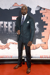 Actor Mike Colter attends the 'Marvel's The Defenders' New York Premiere at Tribeca Performing Arts Center in New York, NY, on on July 31, 2017. (Photo by Anthony Behar) *** Please Use Credit from Credit Field ***