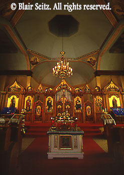 Church architecture, eastern orthodox church interior, McAdoo, NE PA