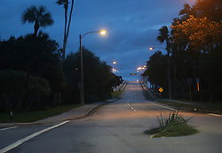 October 7, 2016 - Florida, U.S. - The streets of Lake Worth are empty early Friday, October 7, 2016. (Credit Image: © Bruce R. Bennett/The Palm Beach Post via ZUMA Wire)