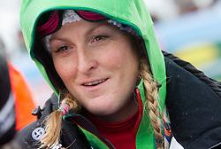 Janica Kostelic, sister of winner KOSTELIC Ivica  of Croatia after the 10th Men's Slalom - Pokal Vitranc 2013 of FIS Alpine Ski World Cup 2012/2013, on March 10, 2013 in Vitranc, Kranjska Gora, Slovenia. (Photo By Vid Ponikvar / Sportida.com)