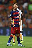 Lionel Messi of FC Barcelona reacts after missing a chance to score a goal during the Joan Gamper Trophy, FC Barcelona v AS Roma, at Camp Nou Stadium, in Barcelona, Spain, on August 5, 2015 - Photo Manuel Blondeau / Aop Press / DPPI