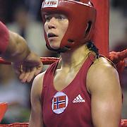 2. WOMEN'S WORLD BOXING CHAMPIONSHIPS.<br /> Norway's Kitel Henrite between  PRK's Jo Pok sun. Dilek Sabanci Sport Hall Antalya/Turkey<br /> Photo by Aykut AKICI/TurkSporFoto