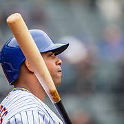 NEW YORK, NEW YORK - MAY 04:  Yoenis Cespedes #52 of the New York Mets preparing to bat during the Atlanta Braves Vs New York Mets MLB regular season game at Citi Field on May 04, 2016 in New York City. (Photo by Tim Clayton/Corbis via Getty Images)