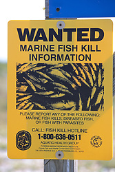 Marine Fish Kill Sign