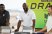 January 27 2016: Pro Football Hall of Famer Jerry Rice during the Pro Bowl Draft at Wheeler Army Base on Oahu, HI. (Photo by Aric Becker/Icon Sportswire)
