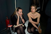 LAURE ANBOISE AND AURELIE LAMBILLON, Unveiling of the Vivienne Westwood Opus. Hosted by Vivienne Westwood and Karl Fowler of Kraken Opus. Serpentine Gallery. London. 12 February 2008.  *** Local Caption *** -DO NOT ARCHIVE-© Copyright Photograph by Dafydd Jones. 248 Clapham Rd. London SW9 0PZ. Tel 0207 820 0771. www.dafjones.com.