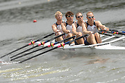 Amsterdam, HOLLAND, USA M4X,Bow Shane O'MARA, Mark FLICKINGER, Miahael PERRY and Sloan DU ROSS, at  the start,  at the 2007 FISA World Cup Rd 2 at the Bosbaan Regatta Rowing Course. [Date] [Mandatory Credit: Peter Spurrier/Intersport-images]..... , Rowing Course: Bosbaan Rowing Course, Amsterdam, NETHERLANDS
