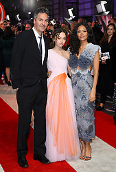 (left to right) Ol Parker, Nico Parker and Thandie Newton attending the european premiere of Dumbo held at Curzon Mayfair, London. Photo credit should read: Doug Peters/EMPICS