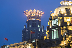 June 22, 2017 - Shanghai, Shanghai, China - Shanghai, CHINA-June 22 2017: (EDITORIAL USE ONLY. CHINA OUT)..Night view of the Bund in Shanghai, June 22nd, 2017. (Credit Image: © SIPA Asia via ZUMA Wire)