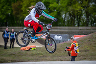 #128 (HENRY Leila) SUI during practice at Round 3 of the 2019 UCI BMX Supercross World Cup in Papendal, The Netherlands