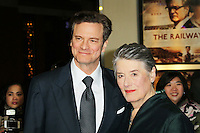 Colin Firth; Patti Lomax, The Railway Man - UK Film Premiere, Odeon West End, Leicester Square, London UK, 04 December 2013, Photo by Richard Goldschmidt