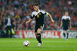 Eden Hazard of Belgium (Chelsea) in action - Photo mandatory by-line: Rogan Thomson/JMP - 07966 386802 - 12/06/2015 - SPORT - FOOTBALL - Cardiff, Wales - Cardiff City Stadium - Wales v Belgium - EURO 2016 Qualifier.