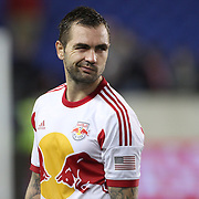 Jonny Steele, New York Red Bulls, distraught at their sides loss after the final whistle during the New York Red Bulls V Houston Dynamo, Major League Soccer second leg of the Eastern Conference Semifinals match at Red Bull Arena, Harrison, New Jersey. USA. 6th November 2013. Photo Tim Clayton