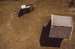 THEMENBILD - ein Landwirt bearbeitet mit seinem Traktor eine Weide für seine Kühe, aufgenommen am 01. April 2019 in Kaprun, Oesterreich // a farmer works with his tractor on a meadow for his cows in Kaprun, Austria on 2019/04/01. EXPA Pictures © 2019, PhotoCredit: EXPA/ JFK