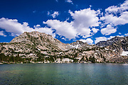 Treasure Lake under the Sierra Crest, John Muir Wilderness, Sierra Nevada Mountains, California USA