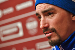March 9, 2019 - Siena, Italia - Foto Gian Mattia D'Alberto / LaPresse.09-03-2019 Siena, Italia.SportCiclismo.Gara ciclistica Strade Bianche 2019 .nella foto: il vincitore Julian ALAPHILIPPE (Fra, Deceuninck-QuickStep) in conferenza stampa..Foto Gian Mattia D'Alberto  / lapresse.2019-03-09 Siena, ItalySportCycling.Strade Bianche 2019 .in the photo: the winner Julian ALAPHILIPPE (Fra, Deceuninck-QuickStep), at the press conference (Credit Image: © Gian Mattia D'Alberto/Lapresse via ZUMA Press)