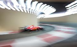 November 24, 2017 - Abu Dhabi, United Arab Emirates - Kimi Raikkönen of Finland and Ferrari Team driver goes during the first practice at Formula One Etihad Airways Abu Dhabi Grand Prix on Nov 24, 2017 in Yas Marina Circuit, Abu Dhabi, UAE. (Credit Image: © Robert Szaniszlo/NurPhoto via ZUMA Press)
