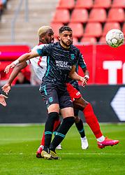 No chance for Ahmed Touba of RKC Waalwijk, goalkeeper Kostas Lamprou of RKC Waalwijk if Gyrano Kerk of FC Utrecht scores 2-1 during eredivisie round 03 between FC Utrecht and RKC at Nieuw Galgenwaard stadium on September 27, 2020 in Utrecht, Netherlands