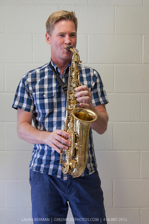 Dave Noble, music teacher and leader of the Junior and Senior Jazz Ensembles at Campbellford District High School.