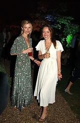 Left to right, Model LAURA BAILEY and ALICE TEMPERLEY at the Quintessentially Summer Party held at Debenham House, 8 Addison Road, London W14 on 15th June 2006.<br /><br />NON EXCLUSIVE - WORLD RIGHTS