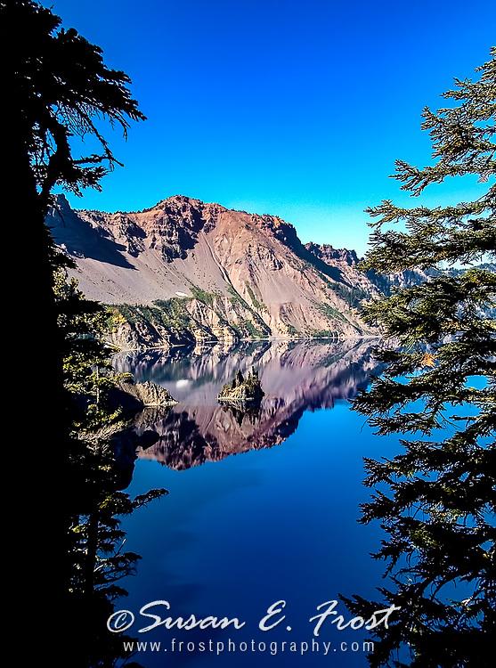 Phantom Ship Reflection--Crater Lake, Oregon