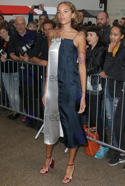 Phoebe Collings-James, London Fashion Week SS17 - Topshop, Old Spitalfields Market, London UK, 18 September 2016, Photo by Brett D. Cove