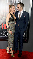 Blake Lively and Ryan Reynolds attending the 'A Quiet Place' New York Premiere at AMC Lincoln Square Theater on April 2, 2018 in New York City, NY, USA. Photo by Dennis Van Tine/ABACAPRESS.COM