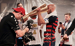 July 26, 2017 - Santa Clara, CA, USA - Santa Clara, CA - Wednesday July 26, 2017: Michael Bradley and the U.S. Men's national team celebrate winning the 2017 Gold Cup Championship by defeating Jamaica 2-1 in the Final during the 2017 Gold Cup Final Championship match between the men's national teams of the United States (USA) and Jamaica (JAM) at Levi's Stadium. (Credit Image: © John Dorton/ISIPhotos via ZUMA Wire)