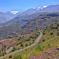 Chile - View of the Andes Mountains