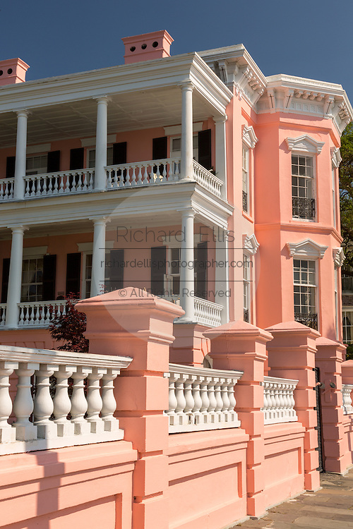 The John Ravenel House also known as the Palmer Inn on East Battery in historic Charleston, SC.