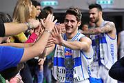 DESCRIZIONE : Campionato 2014/15 Dinamo Banco di Sardegna Sassari - Giorgio Tesi Group Pistoia<br /> GIOCATORE : Enrico Merella<br /> CATEGORIA : Esultanza Saluti<br /> SQUADRA : Dinamo Banco di Sardegna Sassari<br /> EVENTO : LegaBasket Serie A Beko 2014/2015<br /> GARA : Dinamo Banco di Sardegna Sassari - Giorgio Tesi Group Pistoia<br /> DATA : 01/02/2015<br /> SPORT : Pallacanestro <br /> AUTORE : Agenzia Ciamillo-Castoria / Luigi Canu<br /> Galleria : LegaBasket Serie A Beko 2014/2015<br /> Fotonotizia : Campionato 2014/15 Dinamo Banco di Sardegna Sassari - Giorgio Tesi Group Pistoia<br /> Predefinita :
